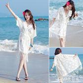 比基尼罩衫外套溫泉游泳衣外搭蕾絲鏤空海邊沙灘度假裙防曬開衫女 台北日光