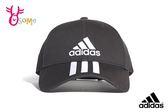 adidas 運動帽 鴨舌帽 經典三條線帽 A0492#黑色◆OSOME奧森鞋業