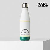 【KARL LAGERFELD】KARL地址LOGO隨身瓶-白
