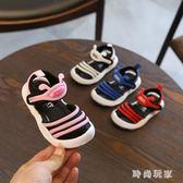 夏季小寶寶鞋嬰兒防滑軟底學步鞋0-1-3歲兒童包頭涼鞋 st3985『時尚玩家』