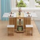 摺疊桌子餐桌家用小戶型現代簡易小型多功能長方形可行動吃飯桌子 夢幻小鎮