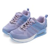 PLAYBOY簡約生活 針織綁帶氣墊休閒鞋-紫
