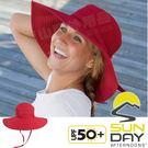 Sunday Afternoons S2C16009C-426紅 抗UV可折疊海灘帽 Beach防曬遮陽帽/編織帽