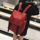 後背包書包女韓版原宿ulzzang 高中學生潮背包學院風百搭簡約街拍後背包 曼莎時尚