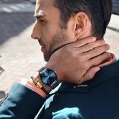 超薄時尚潮流機械精鋼帶石英表手表簡約男士腕表學生防水男表wl3907『黑色妹妹』