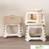 折疊椅子 塑膠加厚凳子家用簡約折疊圓矮成人?子餐桌椅子小板凳登子塑料凳  快速出貨