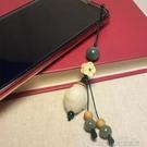 手機吊飾 菩提子手機掛件掛繩吊墜創意民族風女士文藝短款小清新手機鍊 城市科技