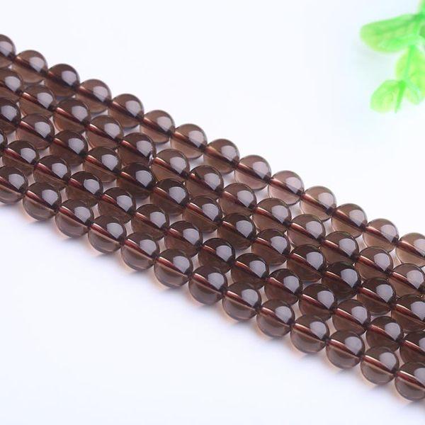 [超豐國際]DIY茶水晶散珠半成品手鏈圓珠串珠手工飾品配件隔1入
