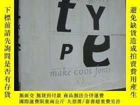 二手書博民逛書店HOT罕見DESIGNERS:Make cool fonts 《