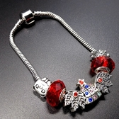 串珠手鍊-水晶飾品鑲鑽聖誕樹生日情人節禮物女配件73bo84【時尚巴黎】