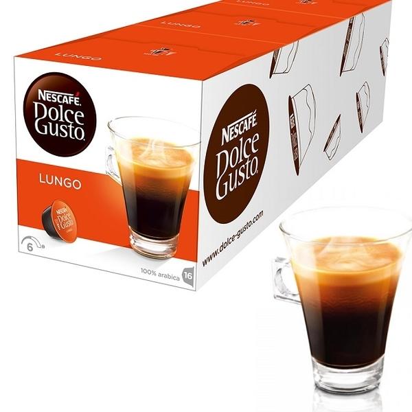 雀巢咖啡 DOLCE GUSTO 美式濃黑咖啡膠囊16顆/盒  一條(三盒入)
