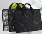 大容量風琴包手提帆布辦公用a4多層檔夾分類插頁袋學生 歐韓流行館