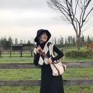 2020秋新款正韓複古英倫菱格V領無袖針織背心學院風馬甲毛衣女冬 店慶降價