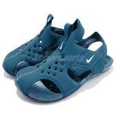 Nike 涼鞋 Sunray Protect 2 TD 藍 運動鞋 魔鬼氈 小朋友 小童鞋【PUMP306】 943827-301