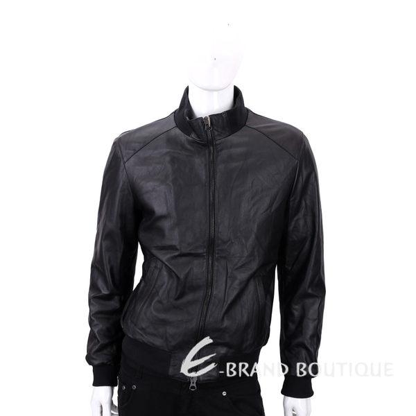 FRADI 黑色拉鍊設計皮衣 1540391-01