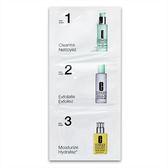 CLINIQUE 倩碧 三步驟體驗包(1.2號肌膚) (溫和洗面膠+溫和潔膚水2號+潤膚露) 【橘子水美妝】