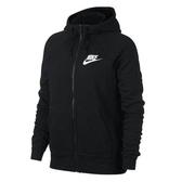 Nike Sportswear Hoodie [930910-010] 女款 運動 健身 全長 拉鍊 連帽 外套 黑