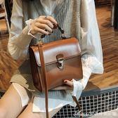 斜背包夏復古小少女土包背包女斜背包單肩斜背新款手提包 艾美時尚衣櫥