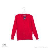 【INI】四季舒適、輕薄溫柔點點針織外套.紅色