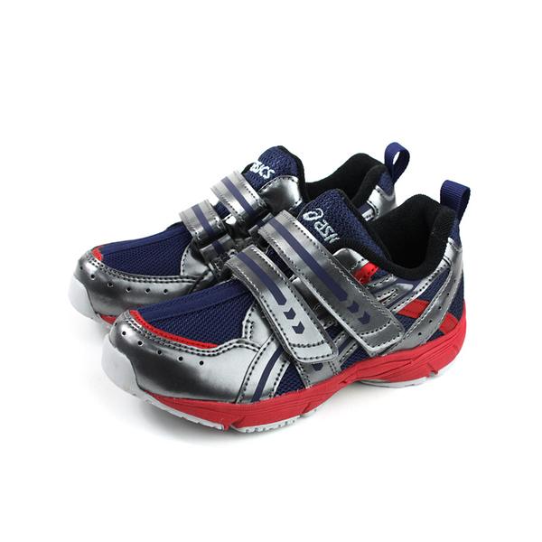 亞瑟士 ASICS GD. RUNNERMINI MG-NARROW 運動鞋 魔鬼氈 銀/深藍 中童 TUM145-400 no408