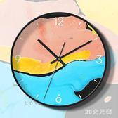 北歐客廳家用靜音藝術掛鐘個性創意時尚大氣鐘表現代簡約石英時鐘 QQ8129『MG大尺碼』