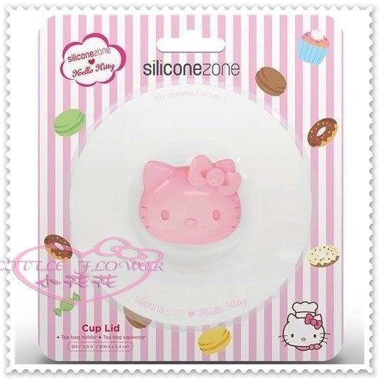 小花花日本精品♥ Hello Kitty 粉色大臉頭立體造型杯蓋 11167808