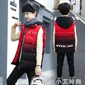男童加厚棉馬甲外穿秋冬季兒童中童棉背心坎肩中大童馬夾洋氣紅色 小艾新品