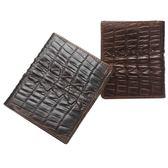 油蠟皮皮夾(短夾)-復古鱷魚紋簡約對折男錢包2色73qs61[時尚巴黎]