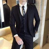 西裝套裝 男士西裝修身韓版休閒西服男套裝商務伴郎結婚正裝外套小西裝【快速出貨八折搶購】