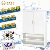 【本木】SGS 零甲醛 / 潮濕剋星  緩衝雙門開放鞋櫃藍白