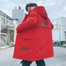 中長款加厚男生外套 冬季男士外套 韓版外套羽絨外套 男士棉衣潮流棉服 夾克外套加絨羽絨服