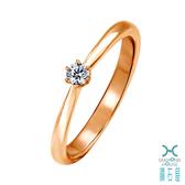 【鑽石屋】11分玫瑰K金鑽石戒指