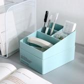 創意多功能筆筒可愛多層學生桌面化妝品整理收納盒筆座格子3615