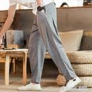中國風男裝亞麻褲子寬鬆小腳哈倫長褲夏季薄款潮棉麻布燈籠休閒褲  英賽爾3C