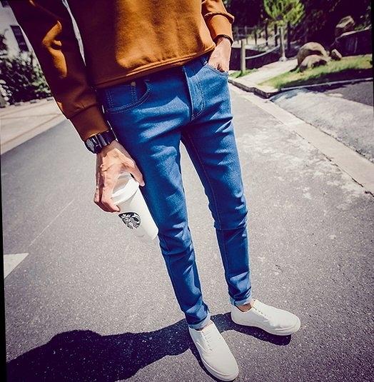 【找到自己】秋裝新款港風簡單小腳設計牛仔褲男潮流休閒褲 蔡依林  10 阿妹