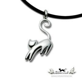 《 SilverFly銀火蟲銀飾 》 經典立體貓系列--暹邏貓純銀項鍊