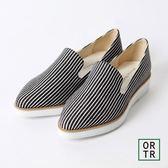 【ORiental TRaffic】旅人風格厚底尖頭鞋-條紋