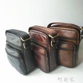 復古男包斜背側背包時尚休閒豎款手工皮包男士包包牛皮大容量 交換禮物