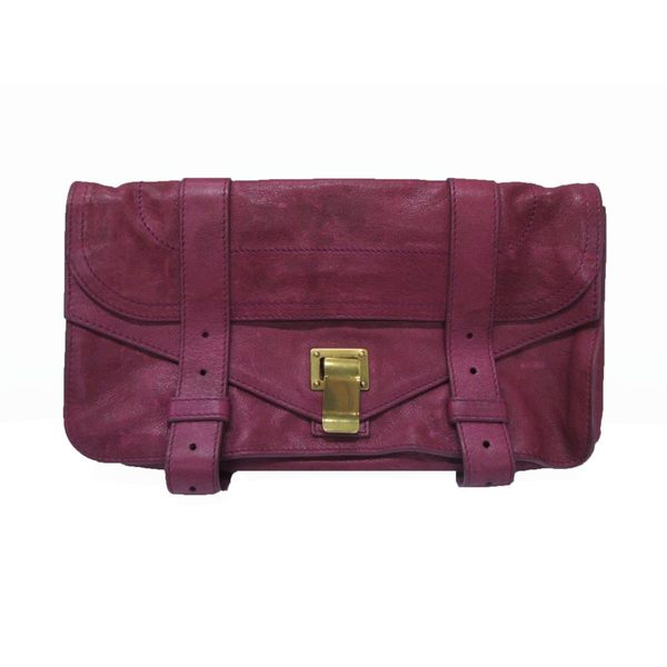 【特價64%OFF】Proenza Schouler PS1 暗桃粉羊皮手拿包 Clutch bag 【BRAND OFF】