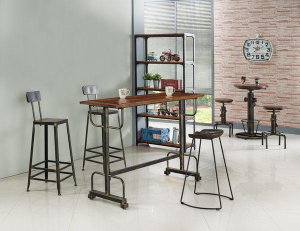【森可家居】工業風復刻版高吧椅 7JX249-3 吧檯椅 美式復古風