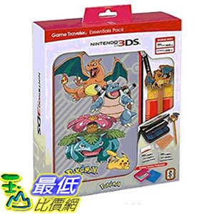 [106 美國直購] RDS Industries Nintendo 3DS Game Traveler Essentials Pack - Pokemon Group with Charizard Stylus