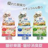 ~KING WANG ~ 貓砂樂園~貓砂消臭錠~草本、花果、蜜桃三種香味 45g 袋
