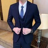 西裝套裝 韓版修身西裝套裝男士商務休閒小西服外套結婚禮服職業正裝【快速出貨八折下殺】