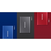 【限時至0516】 Samsung 三星 T7 移動固態硬碟 外接SSD 500GB 金屬紅 靛青藍 深空灰