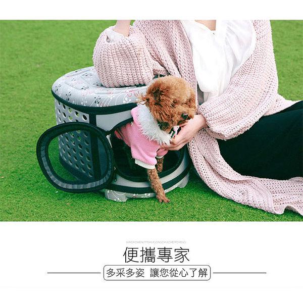 攝彩@EVA寵物外出籠-中號 單肩背外出包 狗兔貓包外出籠手提籠包  4.5kg身長25-40公分