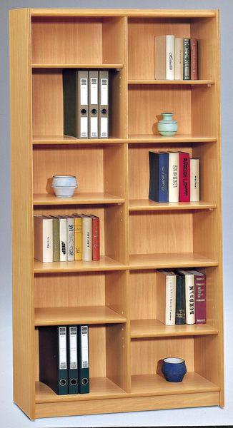 【森可家居】山毛櫸3x6尺組合書櫃(中立板空架) 7SB257-1