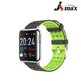 JSmax SW-V5 AI人工智能健康管理手錶(即時動態監測)黑色+綠錶帶