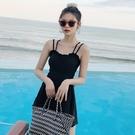 游泳衣女連體 遮肚顯瘦保守新款韓國ins風溫泉性感仙女范泳裝