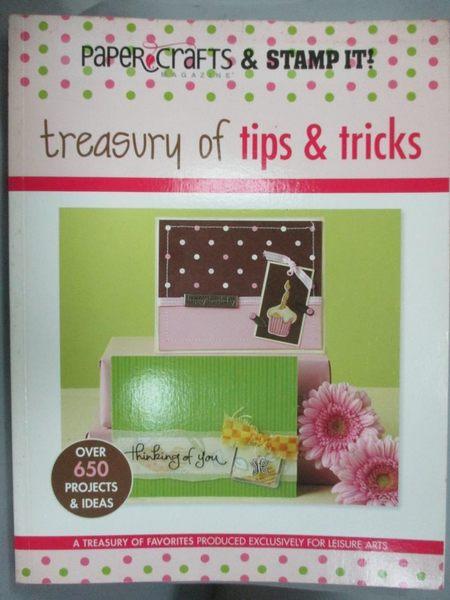 【書寶二手書T2/設計_YHF】Treasury of Tips & Tricks_Croninger, Stacy (