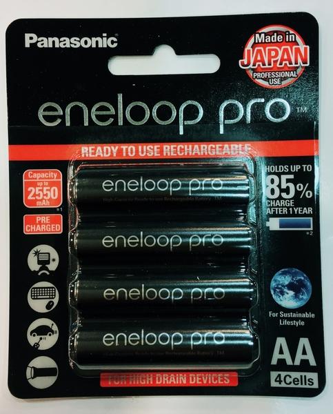 國際 Panasonic eneloop pro 3號 AA (四顆) 2550mAh 高容量 鎳氫充電電池 4入 低自放電 可零下20度 可充500次